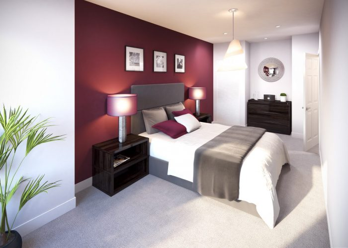 Silkhouse Court flat bedroom
